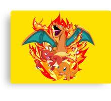 pokemon charizard Canvas Print