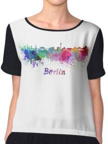 Berlin skyline in watercolor Chiffon Top