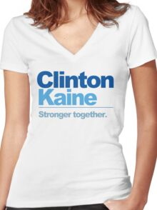 Clinton Kaine - Stronger Together Women's Fitted V-Neck T-Shirt