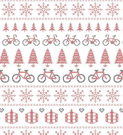 Christmas Jumper Fair Isle for Bikers Sticker