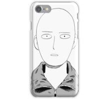 Manga one punch man face iPhone Case/Skin
