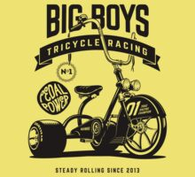 Big Boys Tricycle Racing [Black Mono] One Piece - Short Sleeve