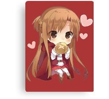 Asuna eating bread Canvas Print