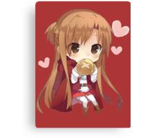 Asuna eating bread Canvas Print