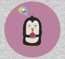 Penguin with melon   Baby Tee