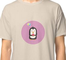 Penguin with melon   Classic T-Shirt