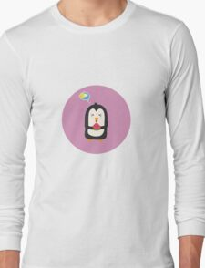 Penguin with melon   Long Sleeve T-Shirt