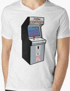 Coffee or COFFEE!! (Insert coffee to play) Mens V-Neck T-Shirt