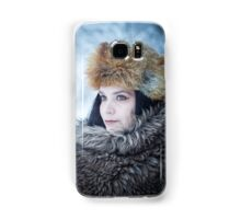 Portrait of an older woman, in the winter Samsung Galaxy Case/Skin