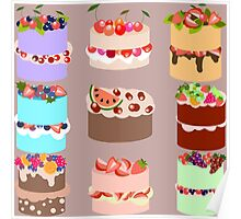 Set of cakes Poster