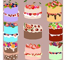 Set of cakes Photographic Print