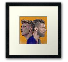 Giroud et Griezmann Framed Print