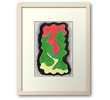 0506 - Movement beyond Green Framed Print