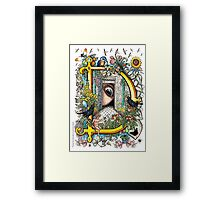 """The Illustrated Alphabet Capital  D  """"Getting personal"""" Framed Print"""