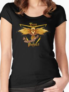 Instinct Team yellow Pokeball Women's Fitted Scoop T-Shirt