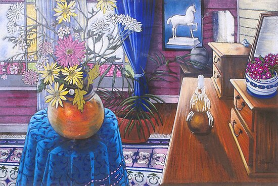 Birthday flowers by maria paterson