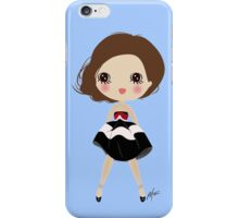 Happy smiling girl iPhone Case/Skin