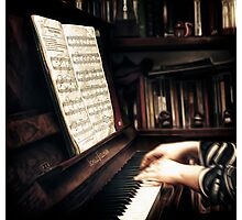 La lecon de piano Photographic Print