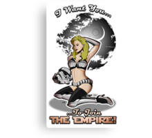 Join The Empire! Canvas Print