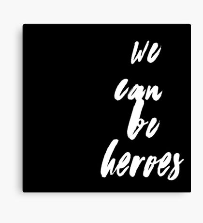 David Bowie - We Can Be Heroes Canvas Print
