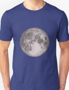 Pleine lune grise Unisex T-Shirt