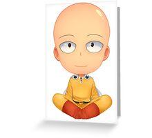 saitama zen one man punch Greeting Card