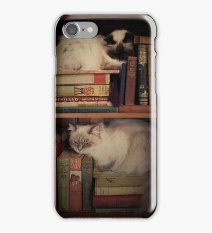 Library Cats iPhone Case/Skin