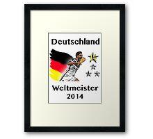 Deutschland Weltmeister 2014 (Germany World Champions 2014) Framed Print