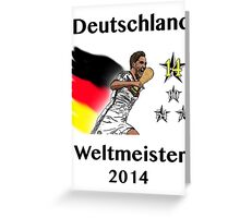 Deutschland Weltmeister 2014 (Germany World Champions 2014) Greeting Card
