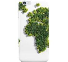 World Map made of green trees iPhone Case/Skin