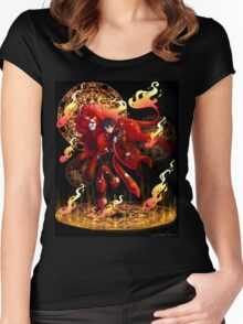 Kieth | Red Paladin of Fire | Aries Women's Fitted Scoop T-Shirt