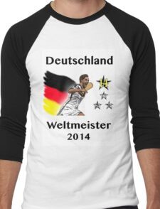Deutschland Weltmeister 2014 (Germany World Champions 2014) Men's Baseball ¾ T-Shirt
