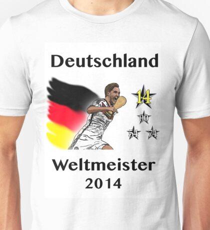 Deutschland Weltmeister 2014 (Germany World Champions 2014) Unisex T-Shirt
