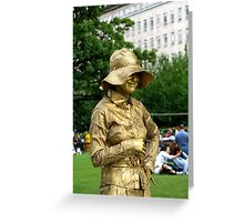 Lady in Gold Greeting Card
