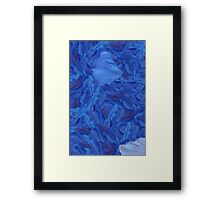 An abstract Brush Strokes design Framed Print