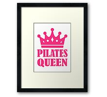 Pilates queen crown Framed Print