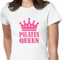 Pilates queen crown Womens Fitted T-Shirt