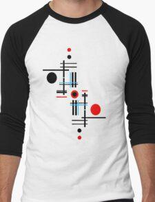 Red & Black Sky Men's Baseball ¾ T-Shirt