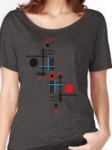 Red & Black Sky Women's Relaxed Fit T-Shirt