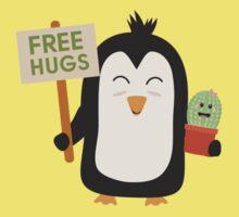 Penguin with Cactus   Kids Tee