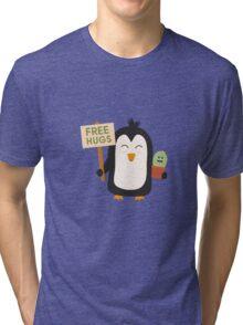 Penguin with Cactus   Tri-blend T-Shirt