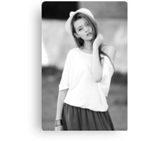 young beautiful girl Canvas Print