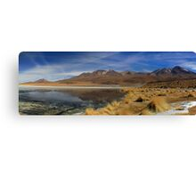 bolivia desert uyuni lake Canvas Print