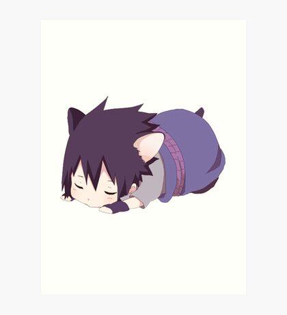Chibi Sasuke Kitty Art Print