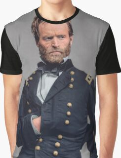 General William T. Sherman - Civil War Graphic T-Shirt