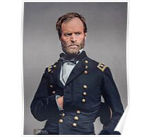 General William T. Sherman - Civil War Poster