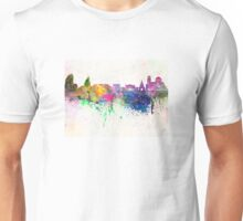 Sofia skyline in watercolor background Unisex T-Shirt