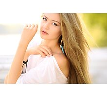 Soft sunny portrait Photographic Print