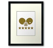 Crossed Ping Pong paddles stars Framed Print