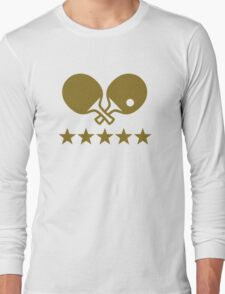 Crossed Ping Pong paddles stars Long Sleeve T-Shirt